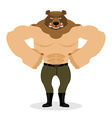 Man Bear Strong powerful wild evil animal with big vector image
