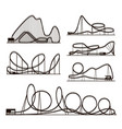 rollercoaster black silhouettes vector image vector image