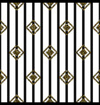 seamless rhombus black and white pattern vector image vector image