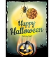 Halloween poster for holiday EPS 10 vector image