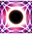 Glowing Circles On Starry Space Background vector image
