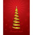 christmas holiday tree vector image vector image