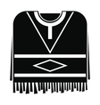 Mexican poncho icon simple style vector image