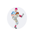 Baseball Pitcher Outfielder Throw Leg Up Low vector image