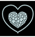 Heart diamond composition vector image