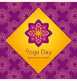 Indian Yoga poster concept Lotus flower symbol vector image