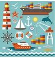 Port vector image