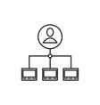 server admin icon vector image
