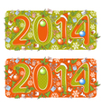 Two Christmas 2014 year cartoons vector image