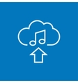Upload music line icon vector image