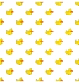 Rubber duck pattern cartoon style vector image