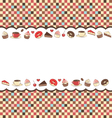 Sweets frame on mosaic vector image