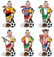 soccer fans at sport bar vector image vector image