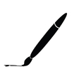 brush silhouette vector image