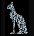 diamond cat vector image vector image