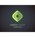 Eco green leaf logo template Green leaves loop vector image