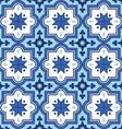 Arabic pattern Moroccan blue tiles design vector image
