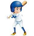 A young baseball player vector image