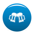 beer mug icon blue vector image