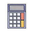 colored crayon silhouette of calculator icon vector image