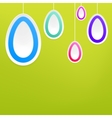 Hanging easter eggs EPS8 vector image
