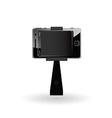 selfie mobile phone vector image