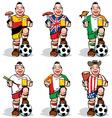 soccer fans at sport bar vector image