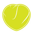 tennis love logo vector image