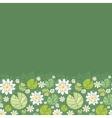 Water lillies horizontal seamless pattern vector image