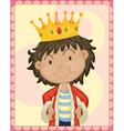 boy king vector image vector image