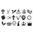 Black and White Easter Icons vector image