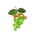Green Grapes In Face Masks Part Of Vegetables In vector image