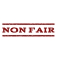 Non Fair Watermark Stamp vector image