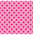 Tile pink background with polka dots vector image vector image