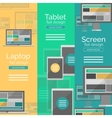 Set of flat design screen concepts vector image vector image