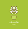 abstract growth logo design element in trendy vector image