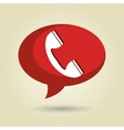 speech bubble with telephone isolated icon design vector image