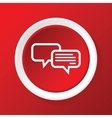 Chatting icon on red vector image