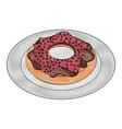 donut pastry food related image vector image