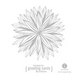 Flowers hand-drawing vector image