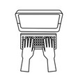 hand programming work computer keyboard vector image