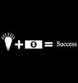 idea bulb and money vector image