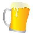 isolated beer mug vector image