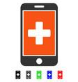 mobile medicine flat icon vector image