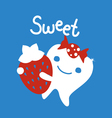 Sweet tooth cartoon character vector image
