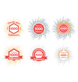 thank you followers icons or badge set vector image