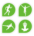 yoga tags vector image