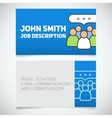 Business card print template vector image