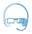 vr virtual reality glasses simple flat icon vector image