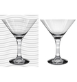 Glasses3 3 2 martini vector image